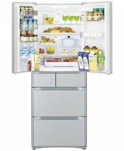 Tủ lạnh Hitachi R-F51M1-XS mặt gương 505L với 6 cánh cửa
