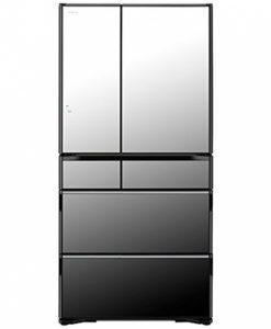 Tủ lạnh Hitachi R-WX7400G-X (đen gương) với 6 cửa có ngăn hút chân không