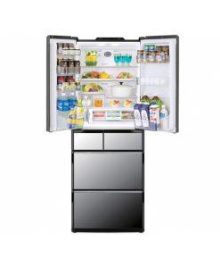 Tủ lạnh Hitachi R-X5700E inverter 6 cửa 570L mặt gương hút chân không vuốt mở cửa tự động