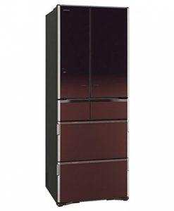 Tủ lạnh Hitachi R-X5700F 6 cửa mặt gương hút chân không vuốt mở cửa tự động