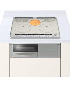 Bếp từ âm Hitachi HT-H60S màu bạc hai từ một hồng ngoại và lò nướng