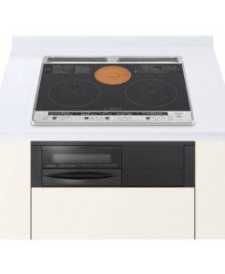 Bếp từ Hitachi HT-H6K có hai bếp từ một bếp hồng ngoại và lò nướng