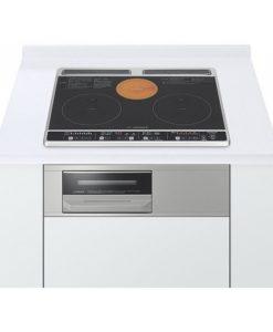 Bếp từ Hitachi HT-K6S với hai bếp từ một bếp hồng ngoại và lò nướng