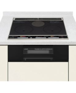 Bếp từ Panasonic KZ-F32AK màu đen nguyên khối 2 từ 1 hồng ngoại 1 lò nướng